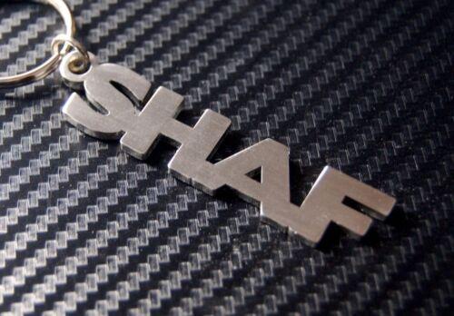 SHAF Personalised Name Keyring Keychain Key Fob Bespoke Stainless Steel Gift
