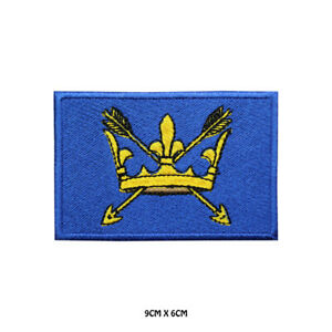 SUFFOLK County Flag Embroidered Patch Iron on Sew On Badge For Clothes