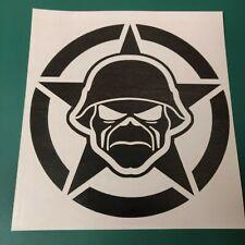 "Iron Maiden Skull Funny Vinyl Decal Car Sticker Window bumper laptop tablet 6/"""