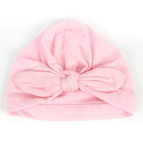 Newborn Baby Infant Girl Boy Toddler Bowknot Hospital Cap Beanie Hat Turban