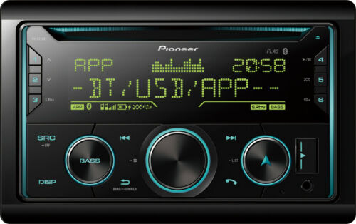 Pioneer FH-S720BT Doble Din CD MP3 USB AUX FLAC Estéreo Bluetooth Iphone Android