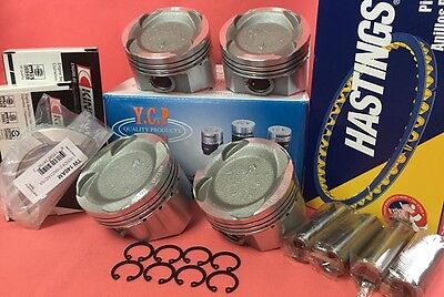 YCP 76mm .040 Vitara Low Comp. Pistons + Bearings + Rings Honda Civic Turbo D16