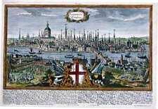 Antica mappa, londinum londen