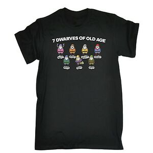 Mens-7-Dwarves-Of-Old-Age-Funny-Joke-Adult-Humour-T-SHIRT-birthday