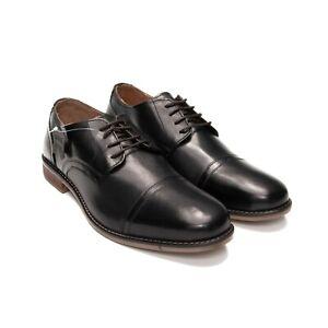 Men-039-s-Leather-Shoes-Men-039-s-Cap-Toe-Derby-Shoes-AU-UK-Size