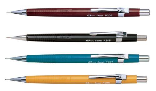 4 x Pentel P200 Mechanical Draughting Pencil 0.3, 0.5, 0.7, 0.9mm 4 size