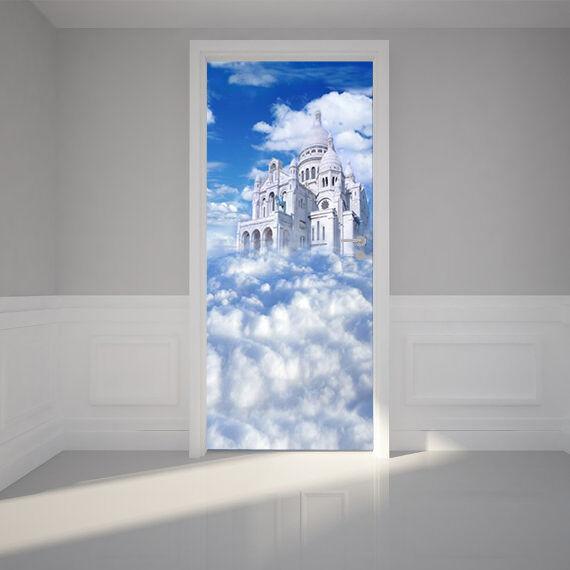 3D Schloss Wolke Tür Wandmalerei Wandaufkleber Aufkleber AJ WALLPAPER DE Kyra