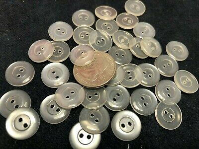 New lots of 50//100 white translucent pearl finish buttons 2 hole 9//16 14.5mm W10