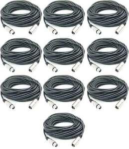 Klug 10x 15 M Mikrofonkabel 3 Pol Xlr Dmx Adam Hall Mikrofon Kabel Neutrik Kompatibel Clear-Cut-Textur Tv, Video & Audio Kabel, Leitungen & Stecker