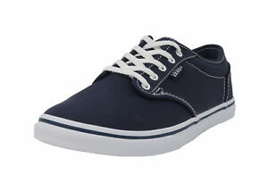 Details about VANS Atwood Low Navy Blue White Lace Up Lady Sneakers Women Shoes