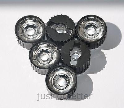 10-100 pcs 10/ 30/ 60/ 90/ 120 degree led lens + Black Holder For 1w 3w 5w LED