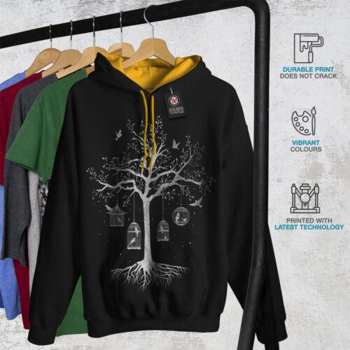 Black Men New Tree Fantastic Hood gold Contrast Hoodie Cage UCZRnap