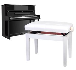 Klavierstuhl Pianobank Musikinstrument höheinstellbar weiss