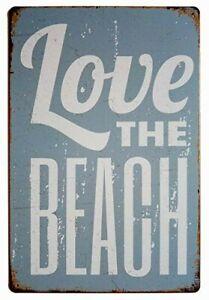 Love-the-beach-tin-metal-sign-Beach-House-home-decoration-design
