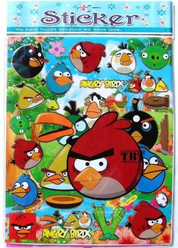 modelli assortiti VIOLETTA adesivo PVC ANGRY BIRDS  25 x 20cm