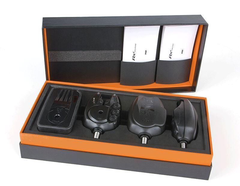 Fox RX+ Micron 3 Rod Presentation Set / Carp Fishing Bite Alarms