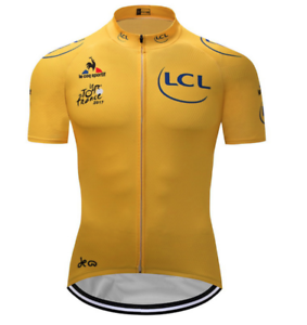 Men s cycling jersey France 2019 Yellow Jersey For Maillot Jaune ... 533db3a2f