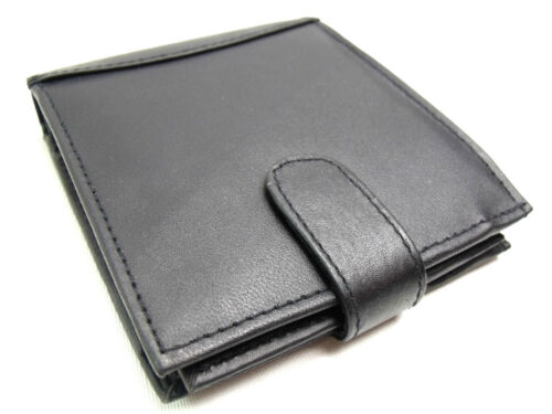 Mens RFID Protected Real Black Leather Wallet Credit Card Holder Coin Pouch