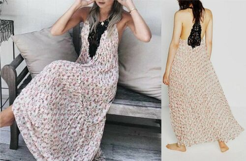 Zara in Dress floreale S Maxi in con Taglia lungo Studio pizzo stampa Abito pizzo qrwrX