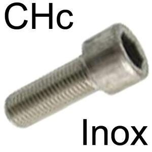 inox M8 x 30 lot de 3 vis à métaux CHC BTR