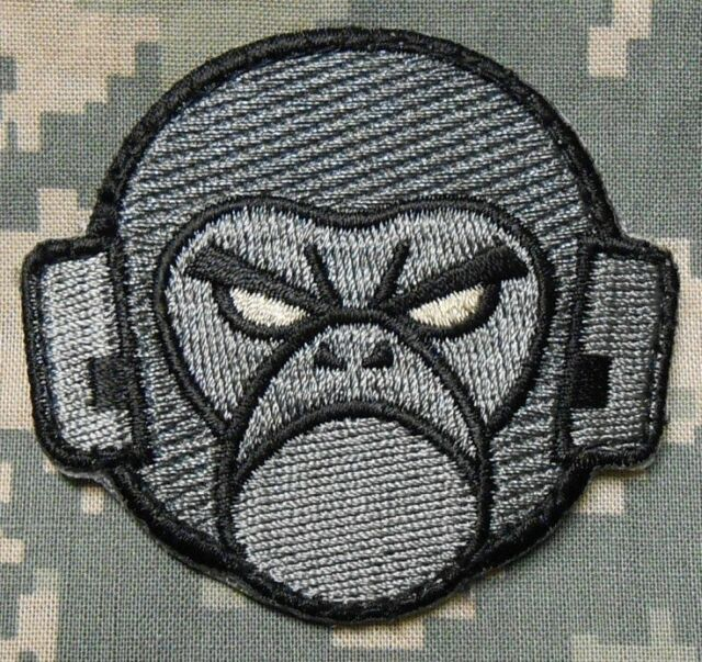 ANGRY MONKEY FACE LOGO TACTICAL USA MILSPEC US ARMY MORALE ACU DARK HOOK PATCH