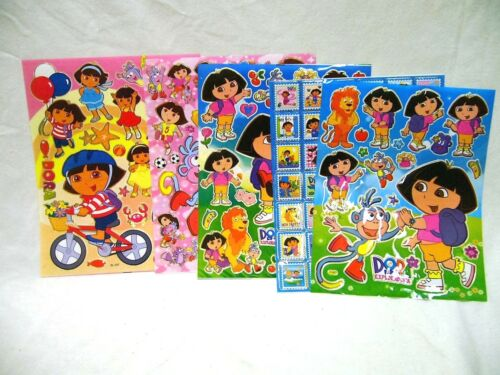 Dora The Explorer 5x A4 Sheets of Shiny Foil Stickers (423) Party Bags Stocking