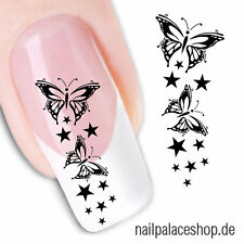Nail Art Nageldesign Water Transfer Nagel Sticker Aufkleber Schmetterling XF1430
