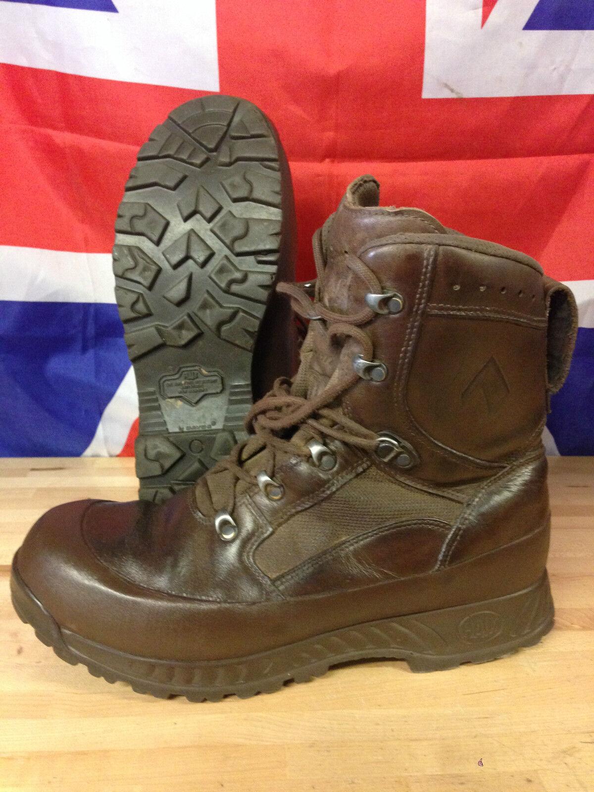 ORIGINALE Esercito Britannico Brown Haix alta responsabilità Combat Stivali Taglie USATI GR 1 Molte Taglie Stivali 49025b