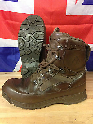 Mutig Genuine British Army Brown Haix High Liability Combat Boots Used Gr 1 Many Sizes