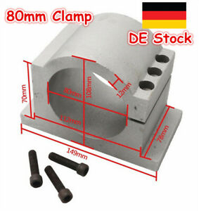 52mm Spindle Mount Aluminium Clamp ER11 CNC Router Milling Flux Workshop