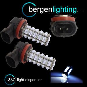 2X-H9-WHITE-60-LED-FRONT-MAIN-HIGH-BEAM-LIGHT-BULBS-HIGH-POWER-XENON-MB500501