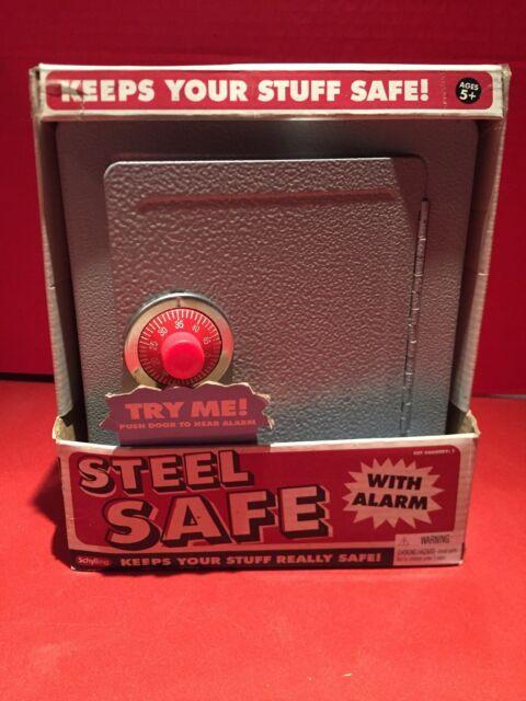 Car Travel or Home Use Sunnydaze Medium Steel Keyed Lockbox Safe with Cable