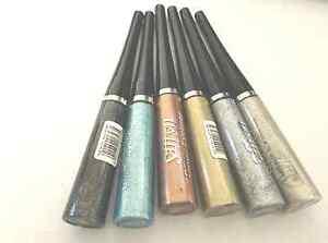 Saffron-paillettes-Eyeliner-Liquide-fete-eclat-doublure-ARGENT-OR-NOIR
