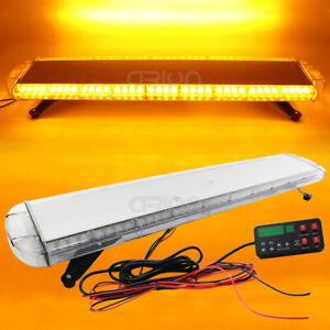 """42/"""" 80 LED White Amber Vehicle Rooftop Emergency Warning Flash Strobe Light Bar"""