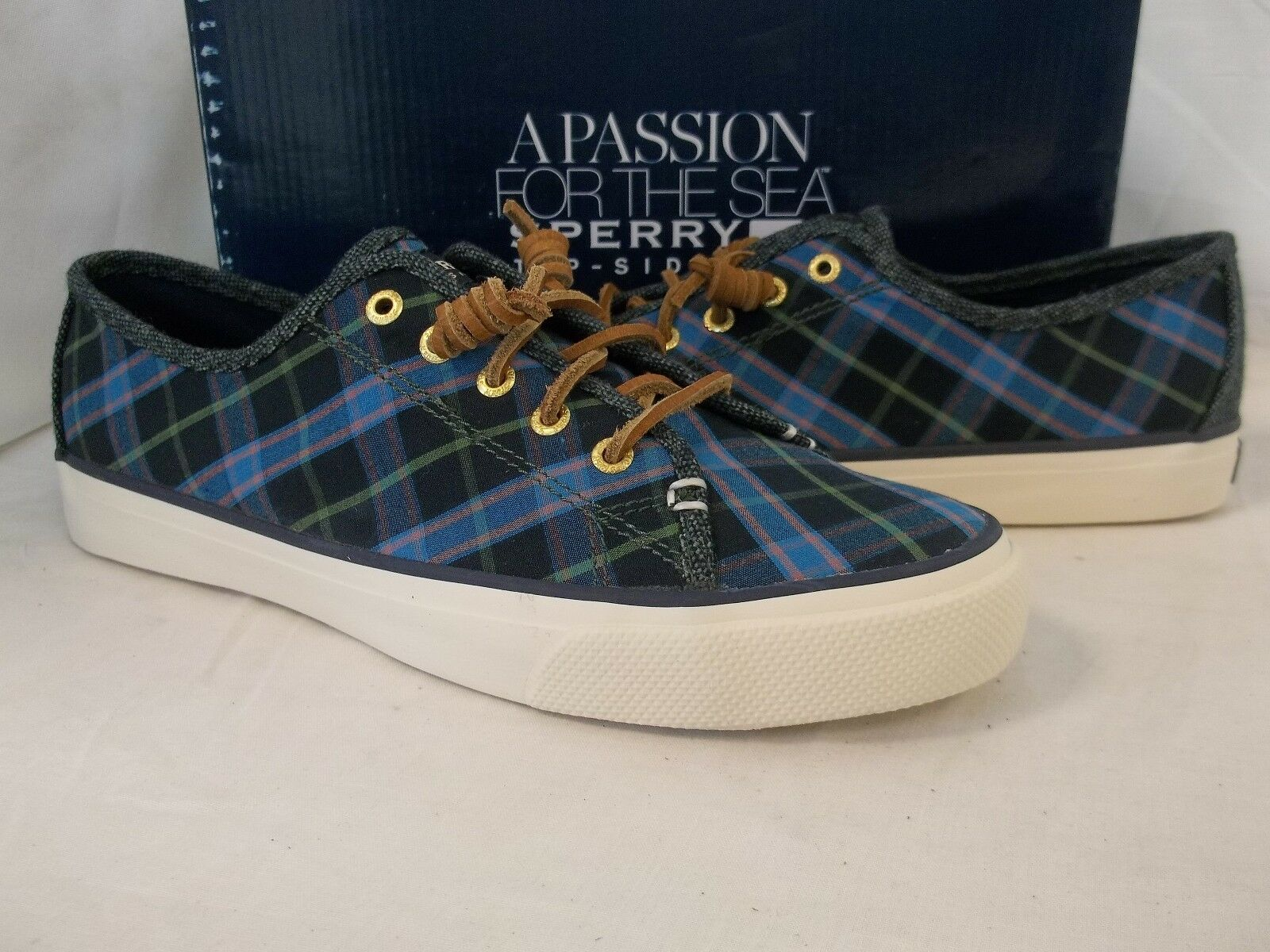 Sperry Top Sider 8 M Seacoast Ultramarine Blue Fashion Sneakers New Womens Shoes