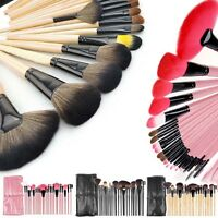Professional Makeup Brush Kit Set Of 24 Cosmetic Make Up Beauty Brushes +case