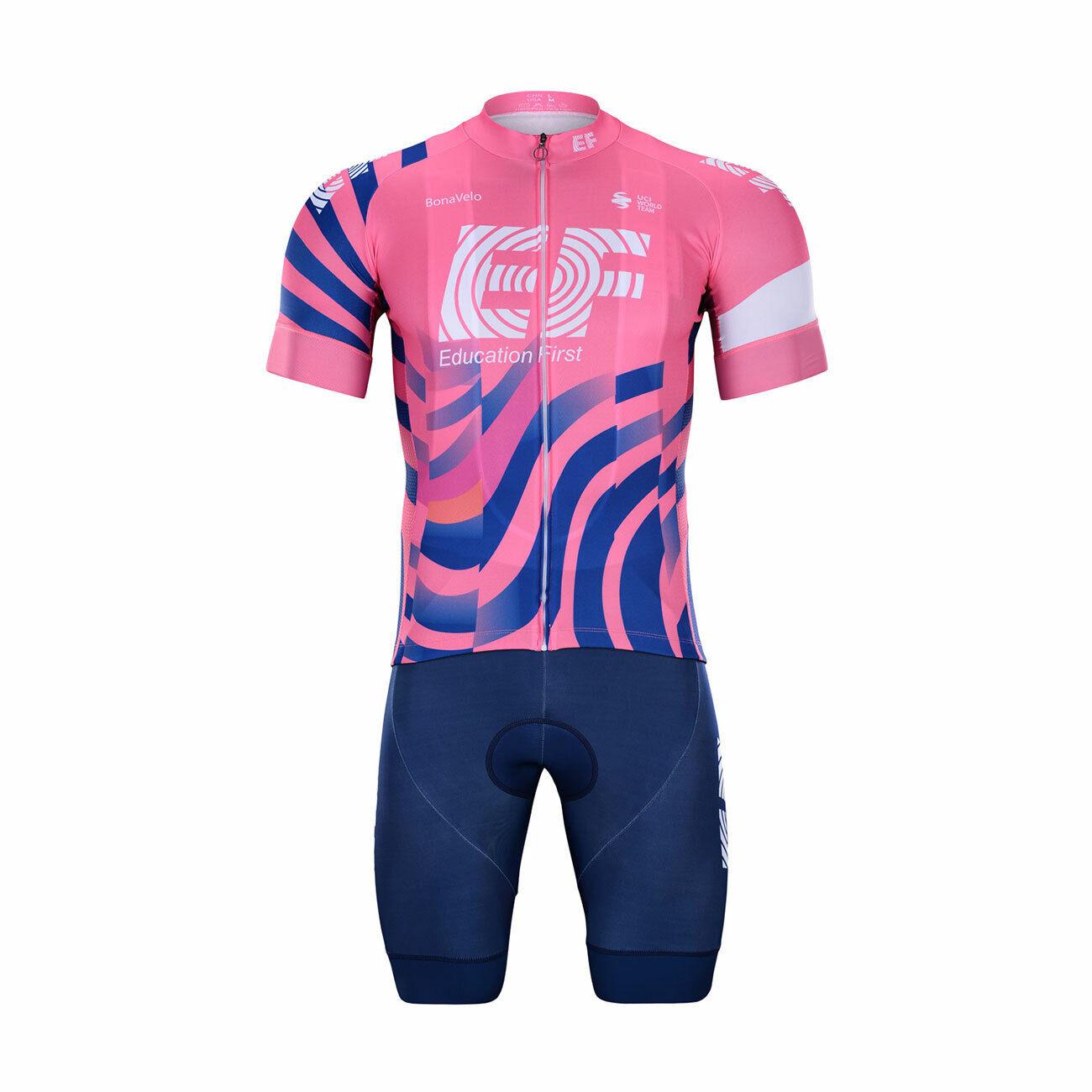 Jersey bib shorts ef education first 2020 set team cycling pro summer