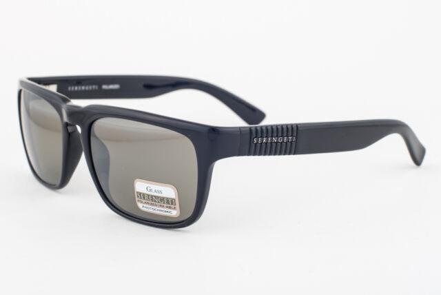 918959c653 Serengeti Cortino Sunglasses Shiny Black Frame 555nm Polarized Lens ...