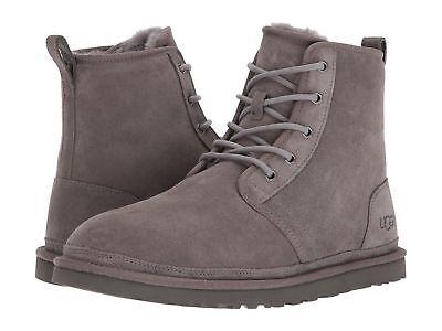 New Ugg Men Boot Shoe Harkley Neumel Suede Charcoal High