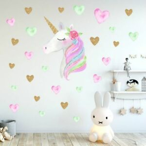 Unicorn-Wall-Decal-Wall-Sticker-for-Bedroom-Girl-039-s-Room-Decor