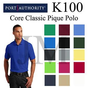 Port-Authority-K100-Mens-Core-Classic-Pique-Polo-XS-5XL