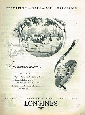 Publicité Advertising 1955 Les Montres Longines To Have A Unique National Style Amicable C Breweriana, Beer