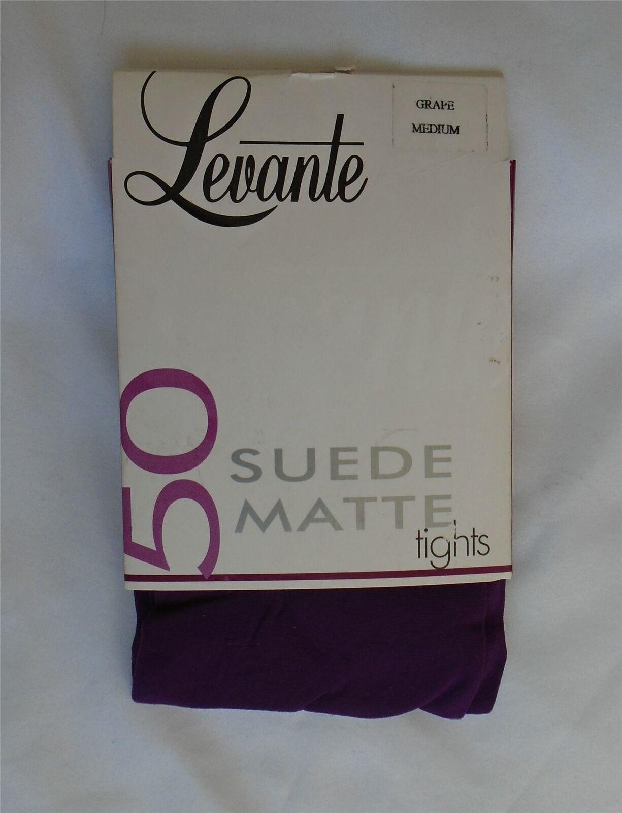 Levante Wildleder Matt 50 Denier Luxus Strumpfhose Traube M