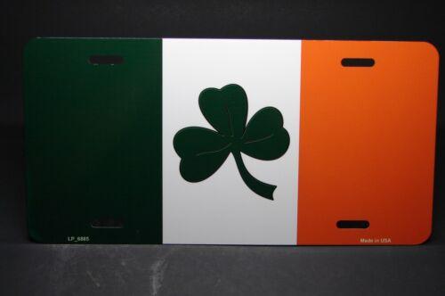 Irische Flagge mit Kleeblatt Metal Noveltycar Kennzeichen Tag.. Irland