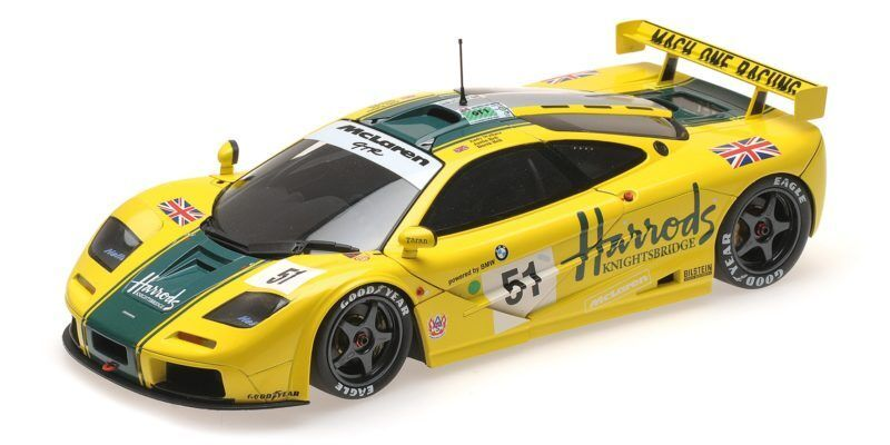 McLaren F1 Gtr Harrods Mach One Racing Wallace Bell 24h Le Mans 1995 1:18 Model