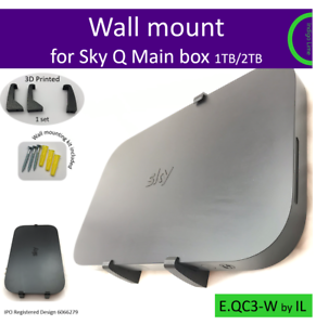 Sky-Q-Main-box-1TB-2TB-wall-mounting-bracket-holder-Black-Made-in-the-UK-by-us