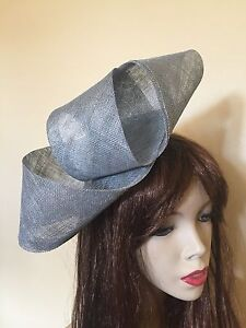 Image is loading Fascinator-Silver-Grey-Hatinator-Gray-Wedding-Hat-Formal- 2a2c1f4de26