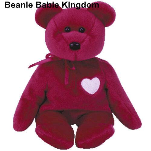 TY BEANIE BABIE BABY VALENTINA THE VALENTINE TEDDY BEAR
