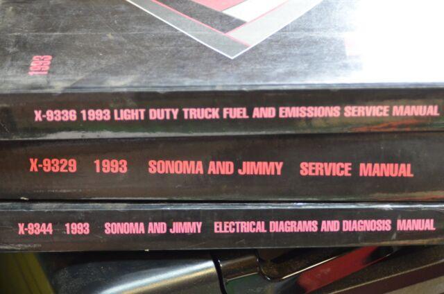 Gmc Sonoma Jimmy Dealer Service Shop Manual 1993