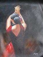 Flamenco dancer large oil painting canvas original contemporary modern art sexy